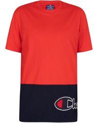 Champion T-shirt avec logo sur le côté T-shirt - Rouge