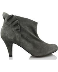 Vienty - Booty Elegant Short Women's Low Boots In Grey - Lyst