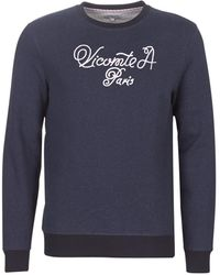 Vicomte A. Sweater Spencer Caligraphy Sweater - Blauw