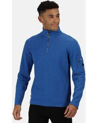 vert bleu marine Regatta elgrid Demi-Zip Homme lourd côtelé Polaire Walking haut décontracté