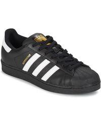 adidas Lage Sneakers Superstar Foundation - Zwart