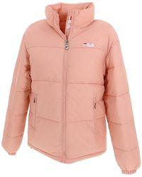 Fila Doudounes Women susi lady puf jacket h - Rose