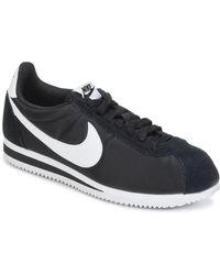 Nike Lage Sneakers Classic Cortez Nylon - Zwart