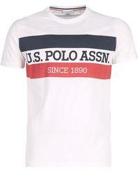U.S. POLO ASSN. T-shirt Korte Mouw Uspa Polo Tee - Wit