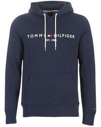 Tommy Hilfiger Sweater Tommy Logo Hoody - Blauw