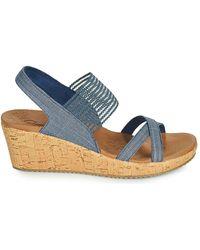 Skechers Beverlee High Tea Sandales - Bleu