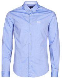BOSS by Hugo Boss Overhemd Lange Mouw Biado R - Blauw