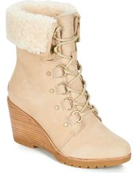 Sorel Snowboots After Hours Lace Shearling - Naturel