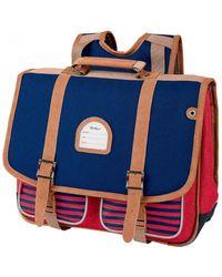Kickers Cartable Bleu uni rouge 38 cm (2S) garcons Cartable - Multicolore