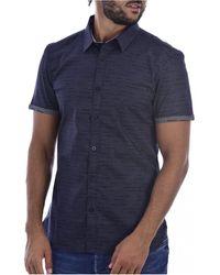 Teddy Smith Camisas CUT MC - Hombres - Azul