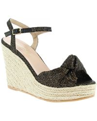 Leonardo Shoes Espadrilles Salome Lurex Bronzo - Bruin