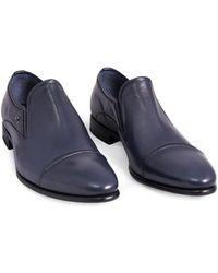 Fabi Mocassin cuir Chaussures - Bleu