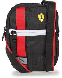 PUMA Borsa Shopping Ferrari Race Mini Portable - Nero