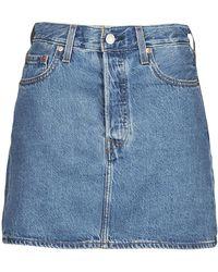 Levi's Rok Levis Ribcage Skirt - Blauw