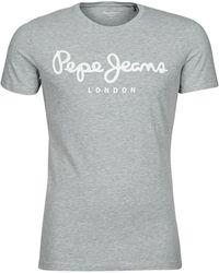 Pepe Jeans ORIGINAL STRETCH T-shirt - Gris