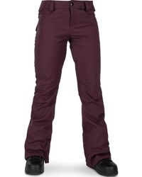 Volcom Women's Species Stretch Snowboard Pant Pantalon - Rouge