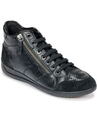 Geox - D Myria Women's Shoes (high-top Trainers) In Black - Lyst