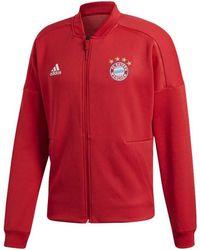 adidas - 2018-2019 Bayern Munich Zne Anthem Jacket Men's Sweatshirt In Red - Lyst