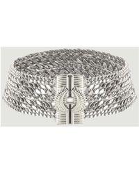 Hipanema - Agyline Choker 55303 Silver Women's Necklace In Silver - Lyst