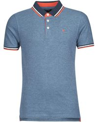 Jack & Jones Polo Shirt Korte Mouw Jjepaulos - Blauw