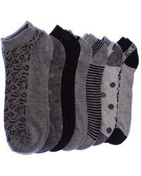 Intersocks Chaussettes Invisibles - Coton Chaussettes - Gris