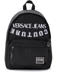 Versace Jeans Couture Sac à dos noir avec logo Sac à dos
