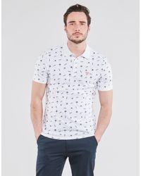 Guess Polo Shirt Korte Mouw Dewayne Ss Polo - Wit