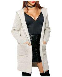 Infinie Passion - Beige Coat 00w060220 Women's Coat In Beige - Lyst
