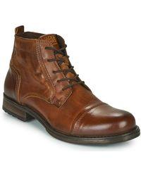 Jack & Jones Laarzen Jfw Russel Leather Mid - Bruin