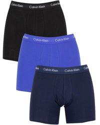 Calvin Klein Lot de 3 aille mi-haute boxers - Cotton - Blanc
