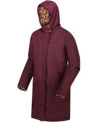 Regatta Rimona Waterproof Insulated Hooded Parka Jacket Red Coat