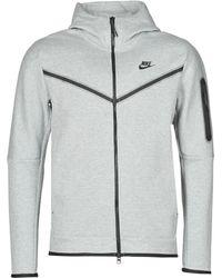 Nike Felpa con cappuccio e zip a tutta lunghezza Sportswear Tech Fleece - Grigio