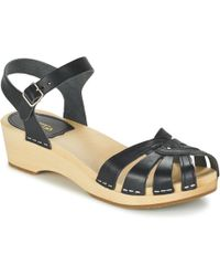 Swedish Hasbeens - Cross Strap Debutant Women's Sandals In Black - Lyst