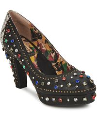 Miss L Fire - Showgirl Women's Court Shoes In Black - Lyst