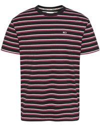 Tommy Hilfiger Two Tone Stripe Classic Tee T-shirt - Noir