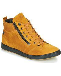 Pataugas Zapatillas altas JULIA/CR F4F - Amarillo