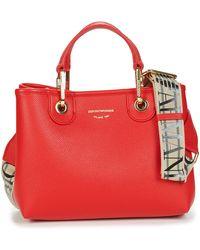 Emporio Armani Borsa Shopping Handbags - Red