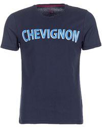 Chevignon MARCEL TEE hommes T-shirt en bleu