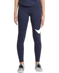 Nike WMNS NSW CLUB SWOOSH BLU Collants - Bleu