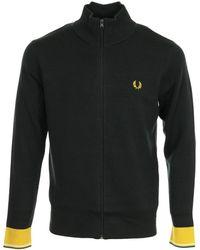 Fred Perry Trainingsjacken Knitted Track Jacket - Grau