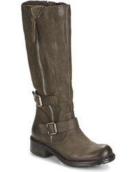 Dream in Green - Razine Women's High Boots In Grey - Lyst