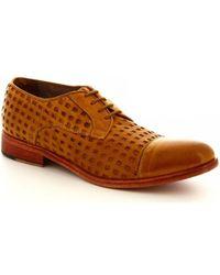 Leonardo Shoes Herrenschuhe 34337/3 PAPUA FOR TUFFATO OCRA - Gelb