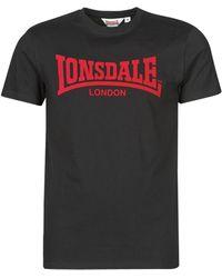Lonsdale London Camiseta ONE TONE - Negro