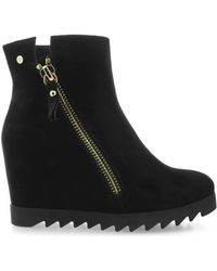 Roccobarocco - Rbsc0cp02cam Women's Low Ankle Boots In Black - Lyst
