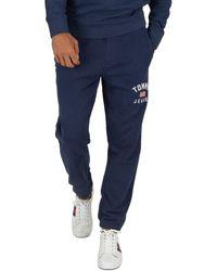 Tommy Hilfiger Pour des hommes Joggeurs Logo Lavés, Bleu hommes Jogging en bleu