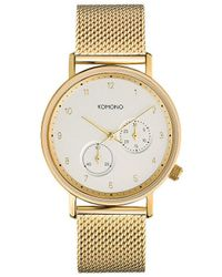 Komono Horloge - Walther Gold Mesh - Metallic
