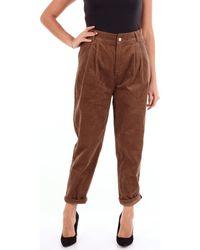 Molly Bracken - S3796 Cropped Femme marron Pantalon - Lyst