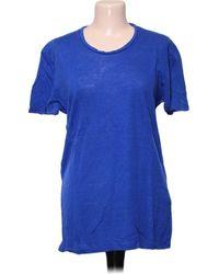 Sandro Top manches courtes - L T-shirt - Bleu