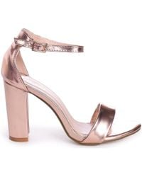 d8c160d027f8 Sam Edelman Trina Metallic Leather Sandals in Metallic - Lyst