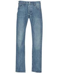 Levi's Straight Jeans Levis 501 Original Fit - Blauw
